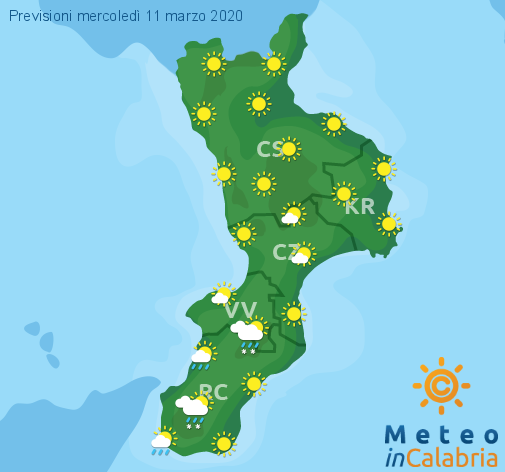 Previsioni Meteo Calabria 11-03-2020
