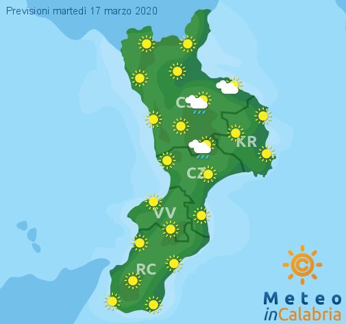 Previsioni Meteo Calabria 17-03-2020