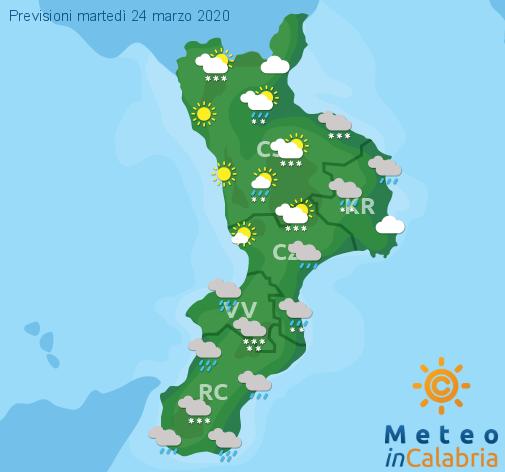 Previsioni Meteo Calabria 24-03-2020