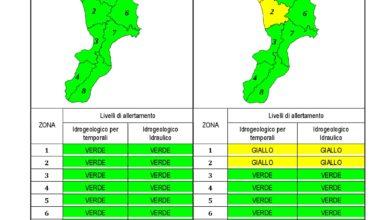 Criticità idrogeologica-idraulica e temporali in Calabria 05-03-2020