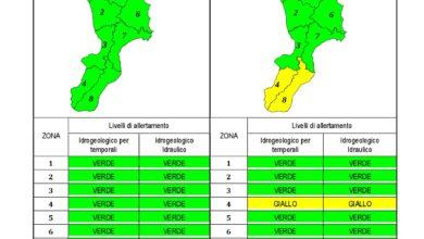 Criticità idrogeologica-idraulica e temporali in Calabria 21-03-2020