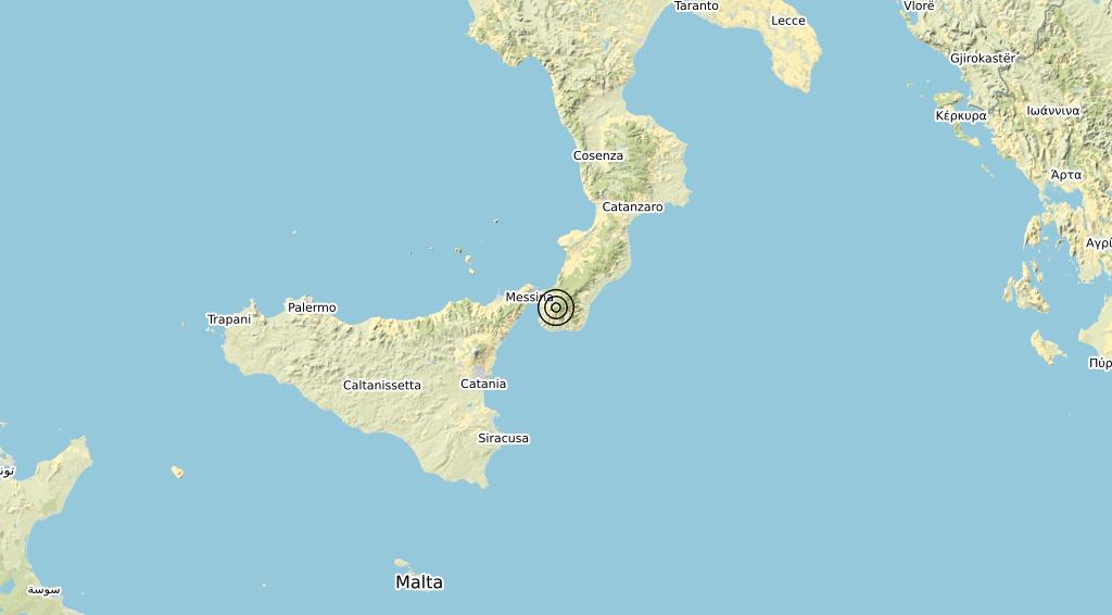 Terremoto Calabria 04-03-2020