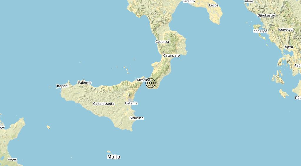 Terremoto Calabria 05-03-2020