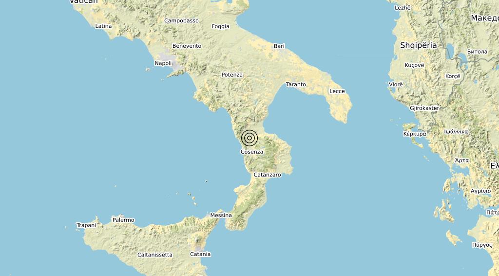 Terremoto Calabria 10-03-2020