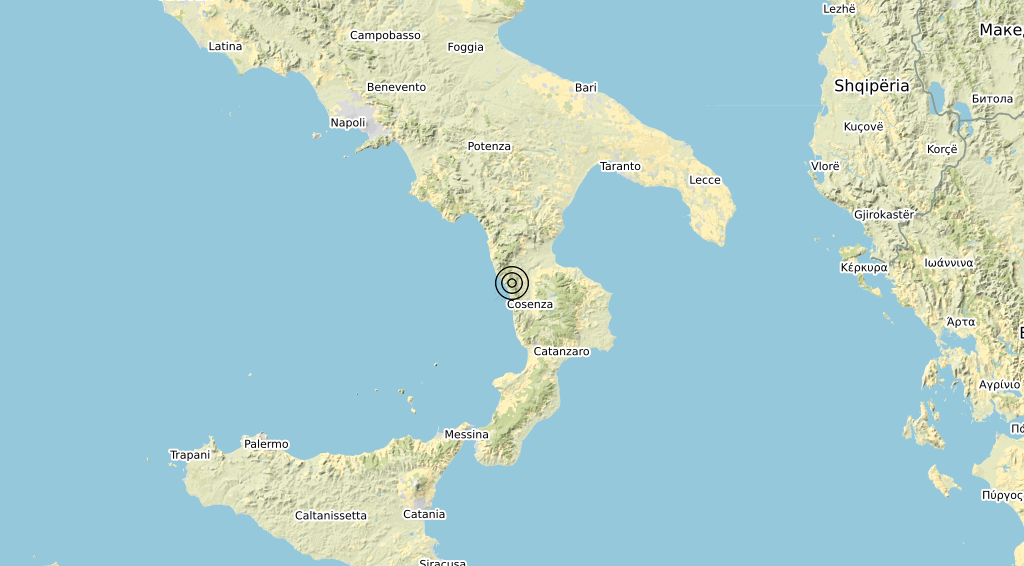 Terremoto Calabria 16-03-2020