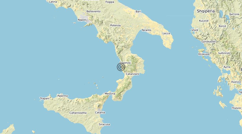 Terremoto Calabria 17-03-2020