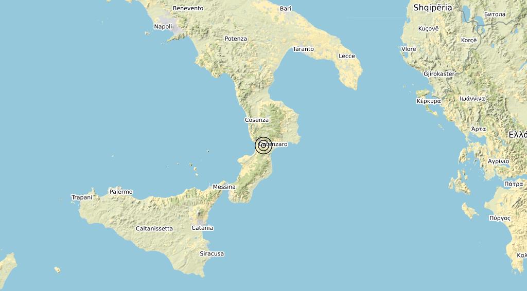 Terremoto Calabria 19-03-2020