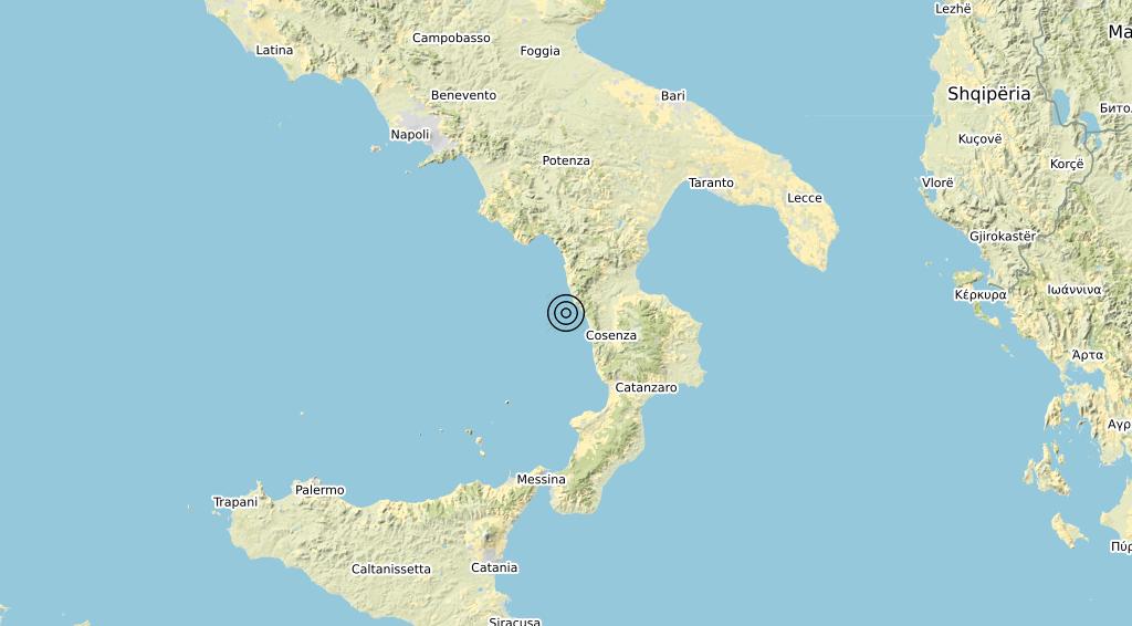 Terremoto Calabria 21-03-2020
