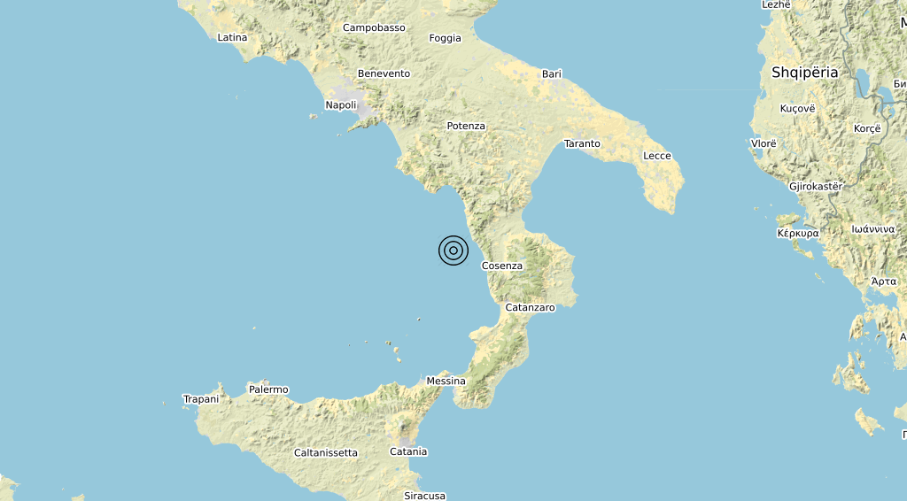 Terremoto Calabria 22-03-2020