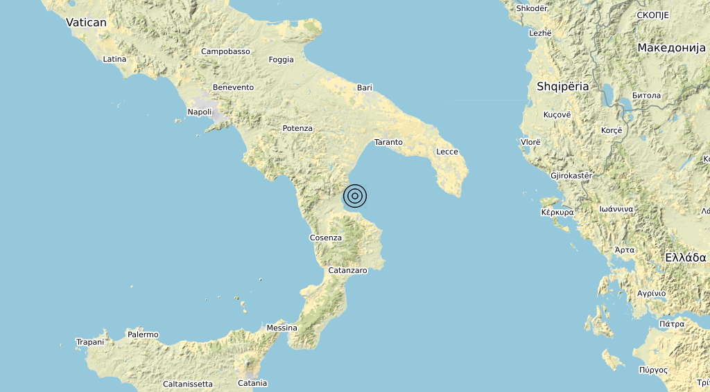 Terremoto Calabria 26-03-2020