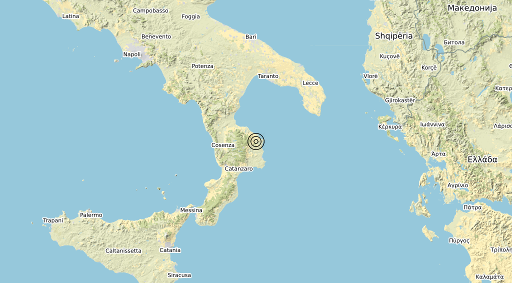 Terremoto Calabria 27-03-2020