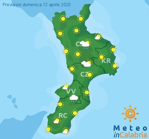 Previsioni Meteo Calabria 12-04-2020