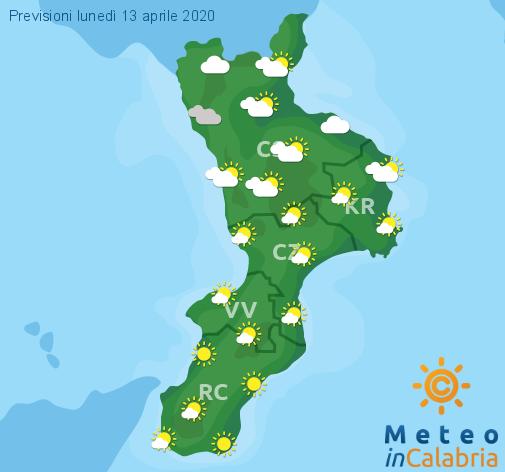 Previsioni Meteo Calabria 13-04-2020