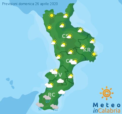 Previsioni Meteo Calabria 26-04-2020