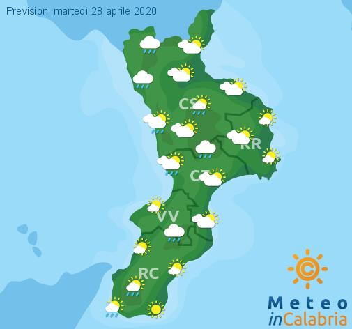 Previsioni Meteo Calabria 28-04-2020