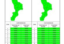 Criticità idrogeologica-idraulica e temporali in Calabria 09-04-2020