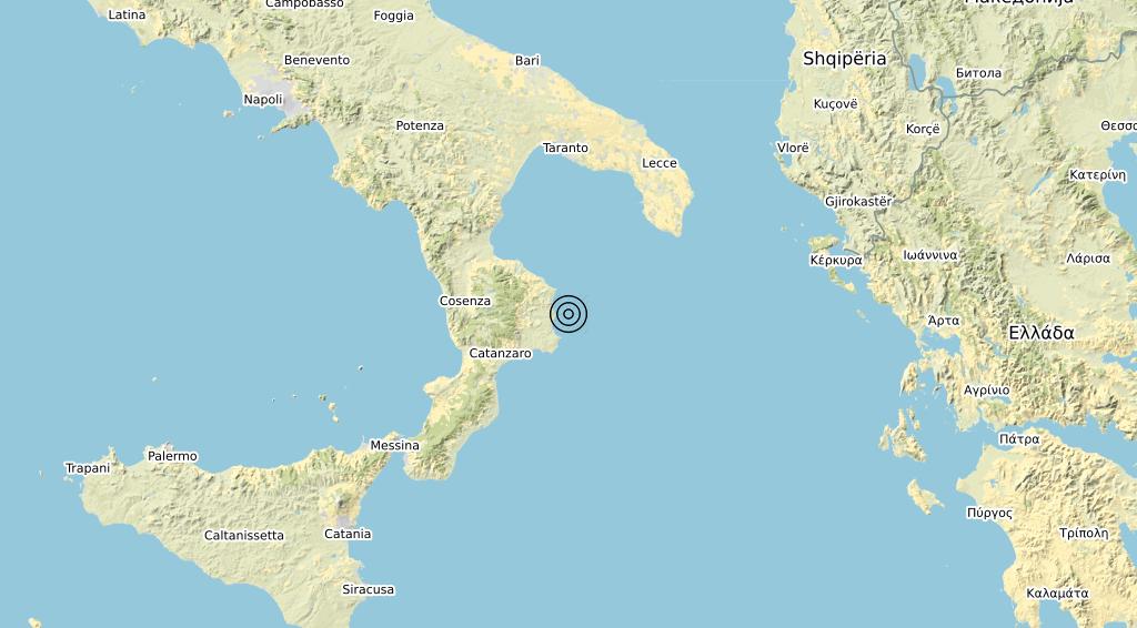 Terremoto Calabria 03-04-2020