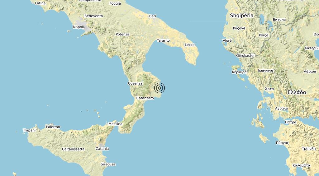 Terremoto Calabria 08-04-2020