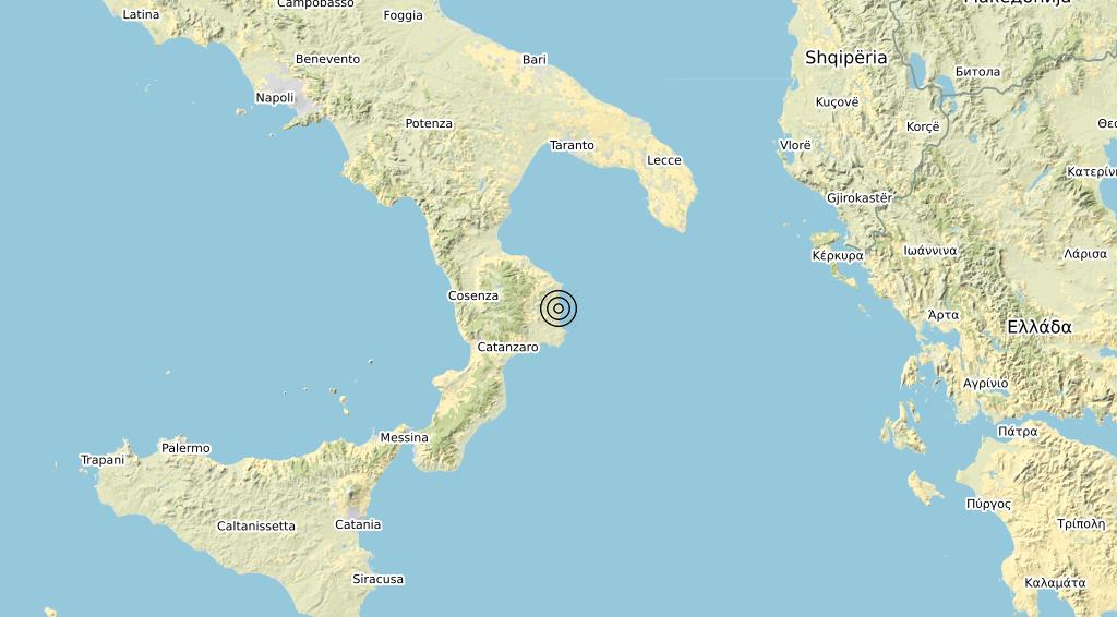 Terremoto Calabria 14-04-2020