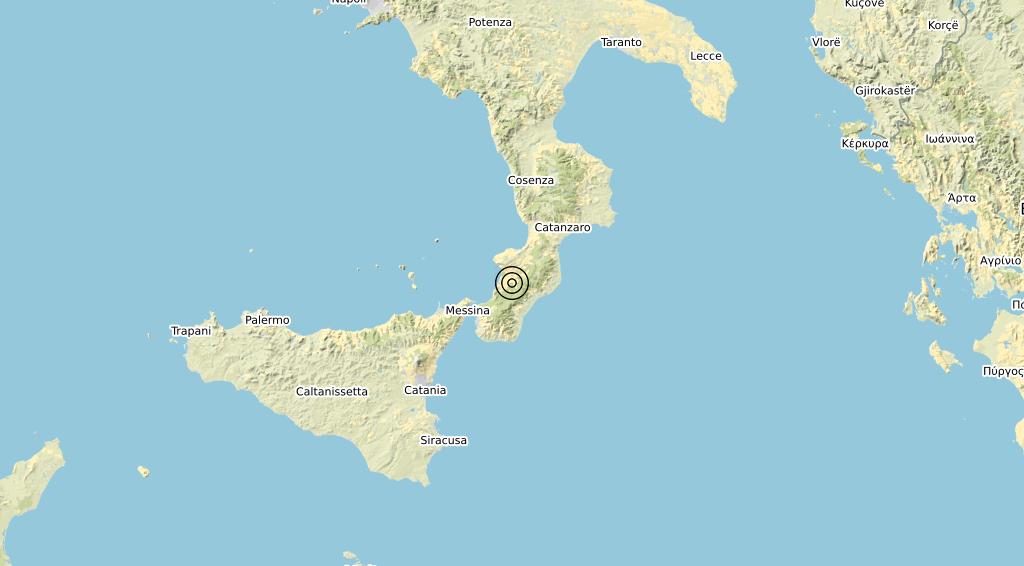 Terremoto Calabria 17-04-2020