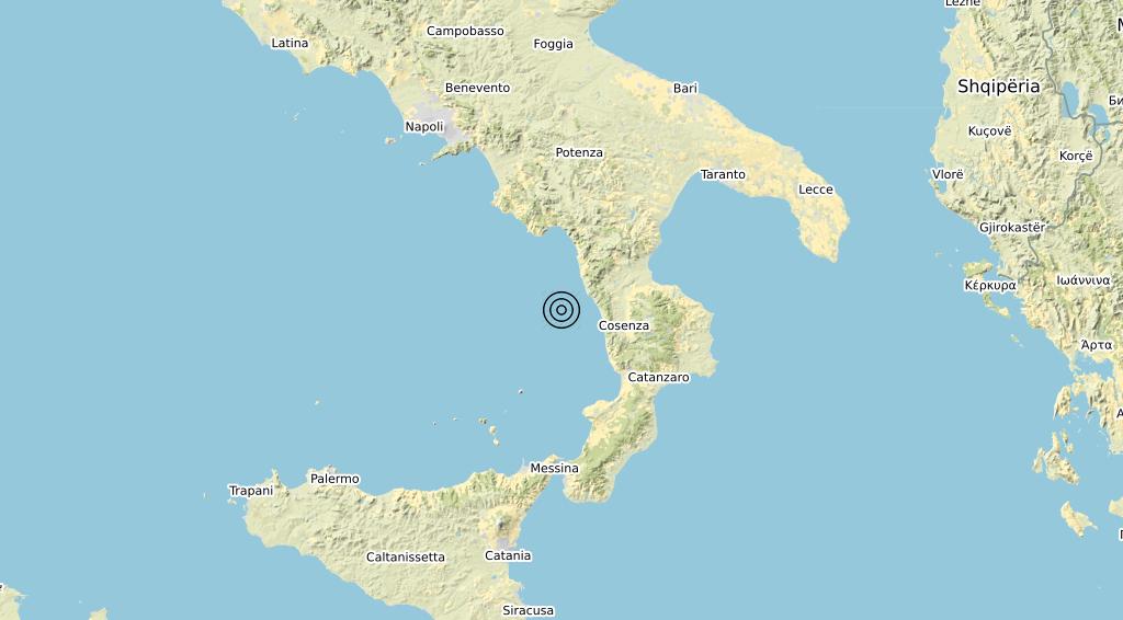 Terremoto Calabria 21-04-2020