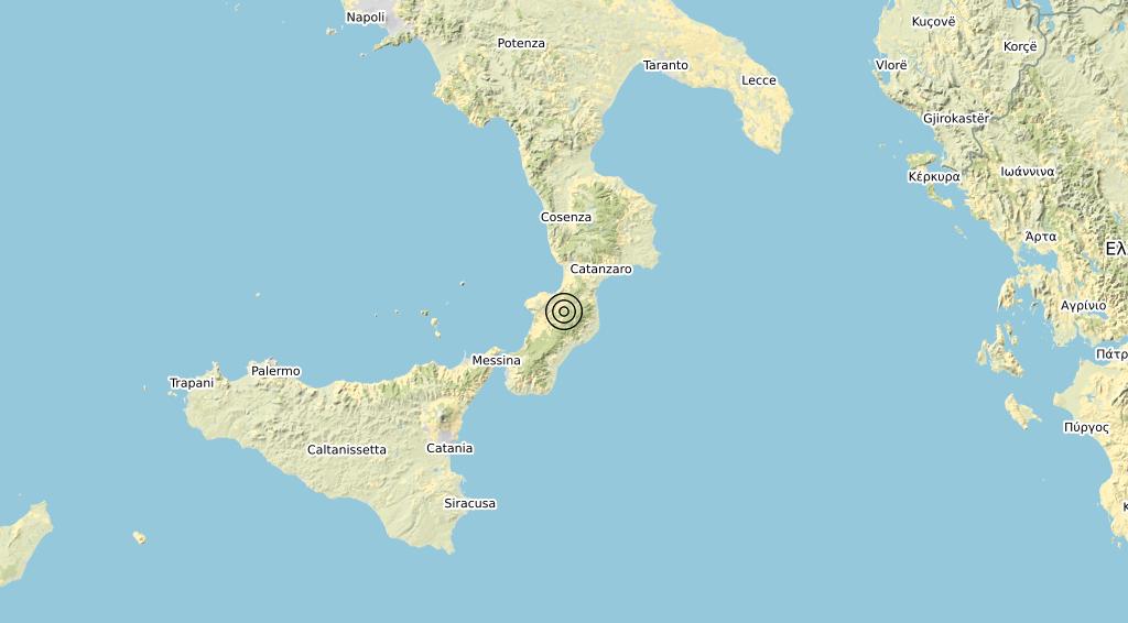 Terremoto Calabria 25-04-2020