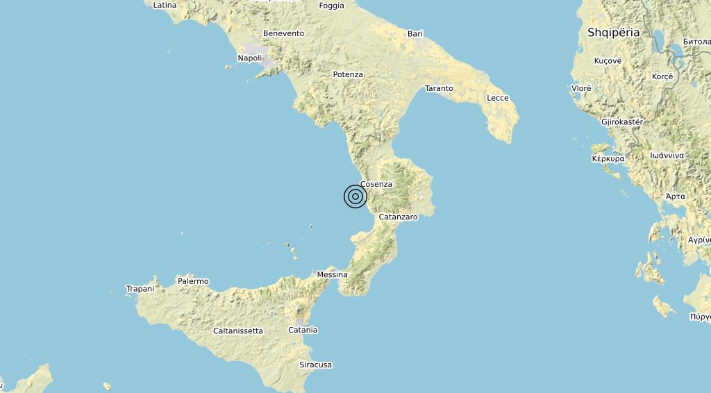 Terremoto Calabria 28-04-2020