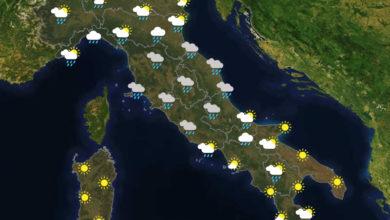 Previsioni del tempo in Italia per il giorno 29/05/2020