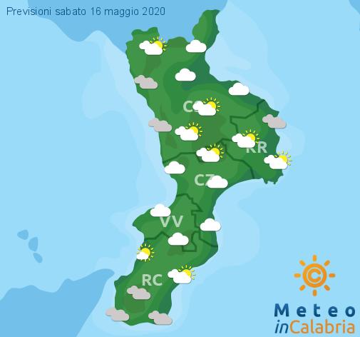 Previsioni Meteo Calabria 16-05-2020