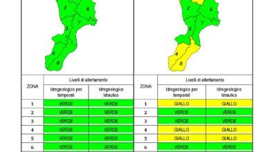 Criticità idrogeologica-idraulica e temporali in Calabria 19-05-2020