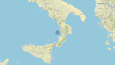 Terremoto Calabria 29-05-2020