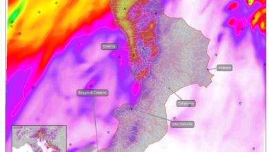 mappa piogge venerdì 5 giugno