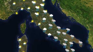 Previsioni del tempo in Italia per il giorno 05/06/2020