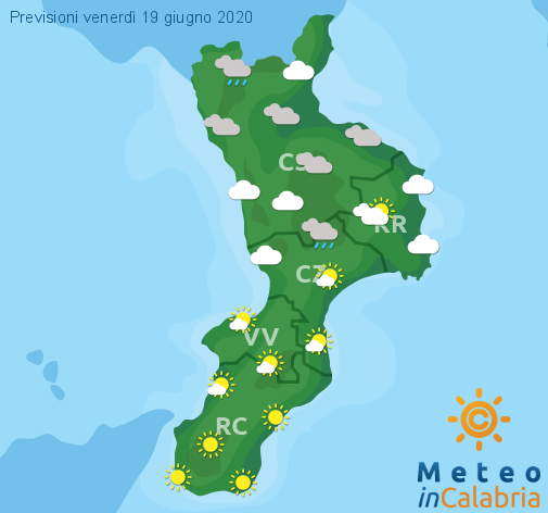 Previsioni Meteo Calabria 19-06-2020