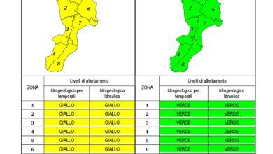Criticità idrogeologica-idraulica e temporali in Calabria 05-06-2020