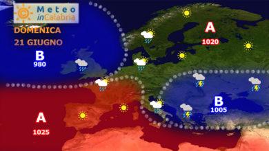 Tempo instabile e lieve calo delle temperature