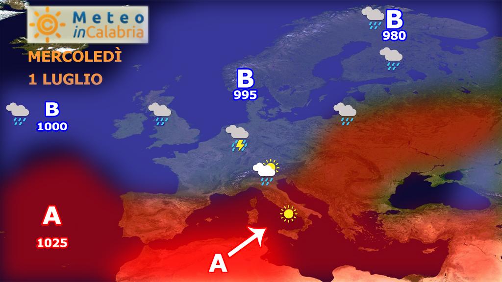 Masse d'aria più calda per giovedì