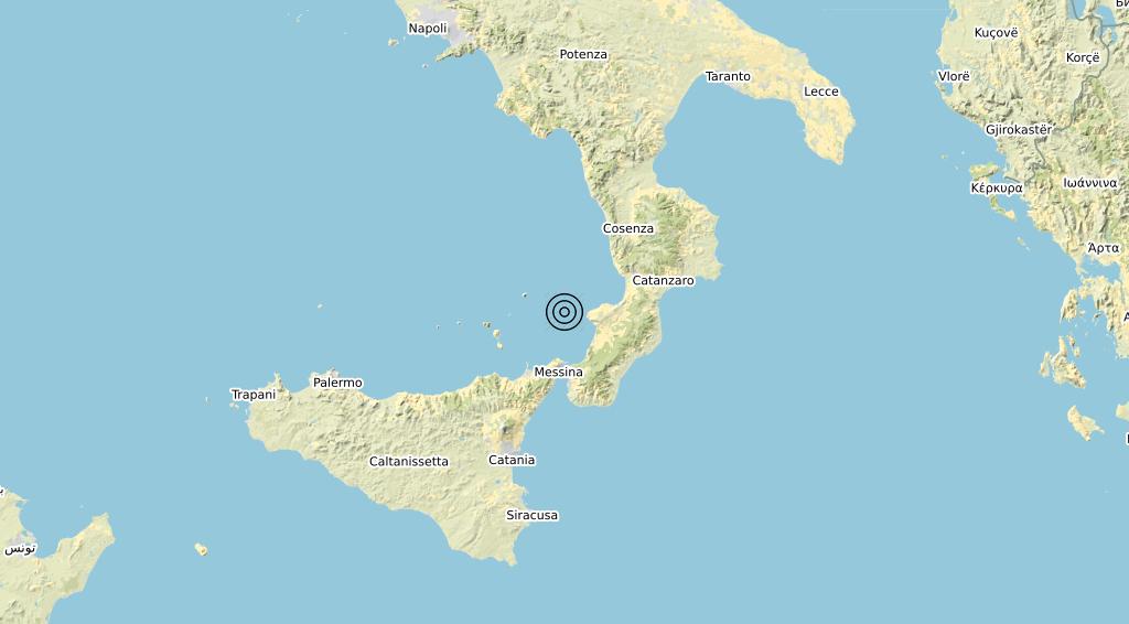 Terremoto Calabria 01-06-2020