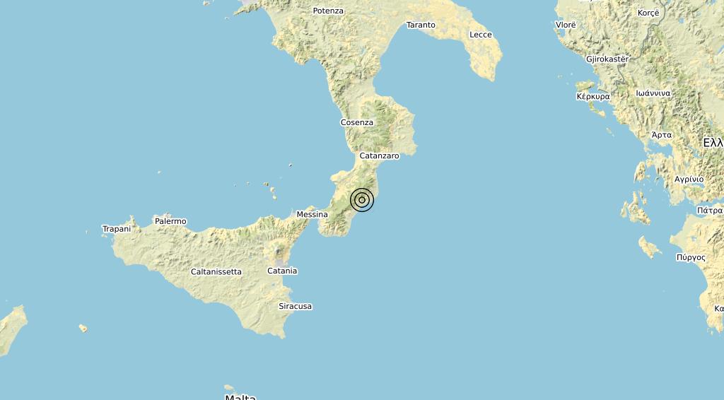 Terremoto Calabria 11-06-2020