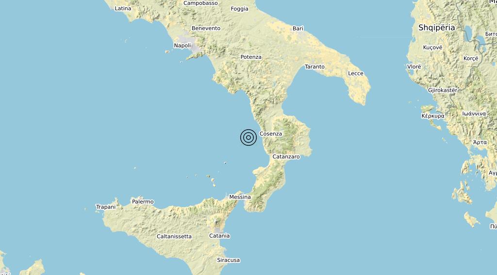 Terremoto Calabria 21-06-2020