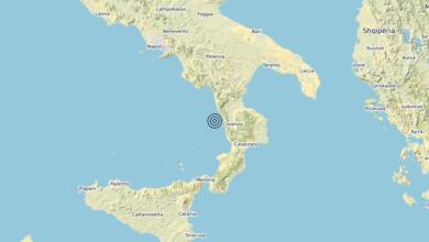 Terremoto Calabria 22-06-2020