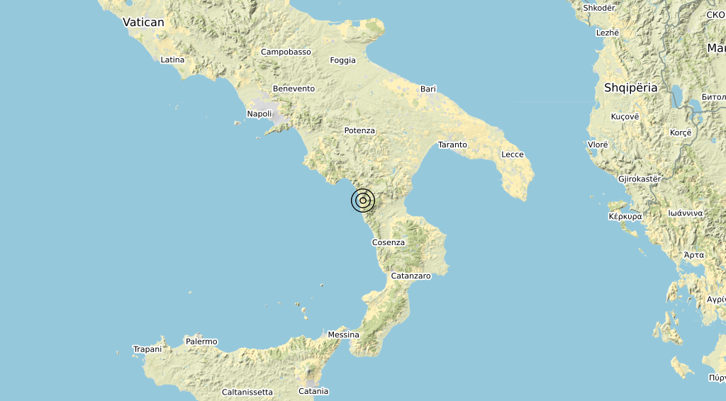 Terremoto Calabria 28-06-2020