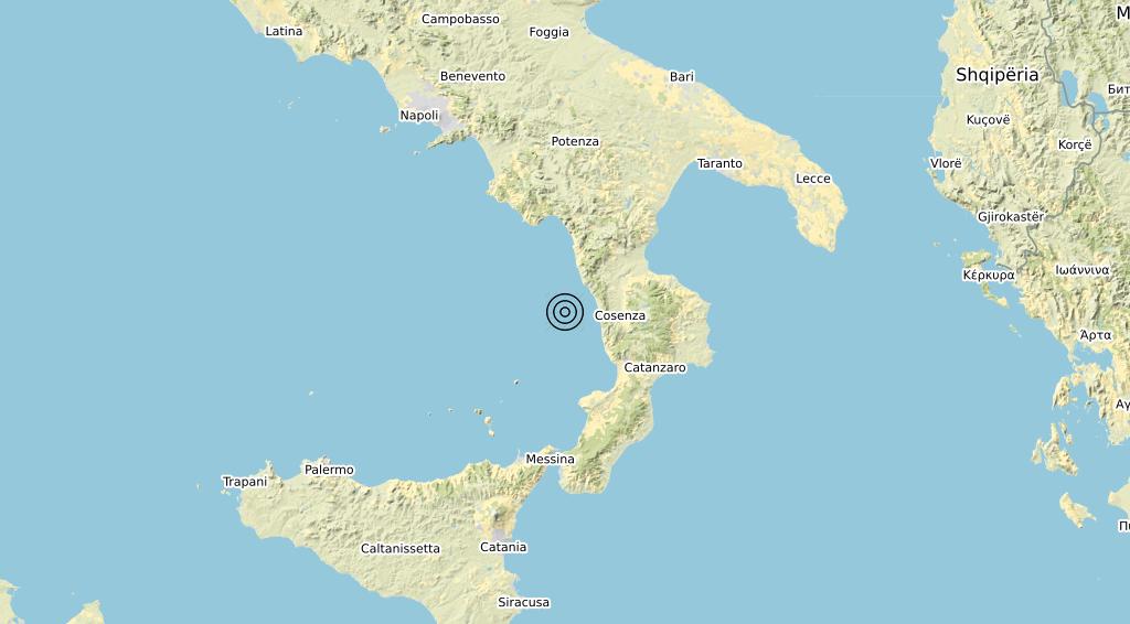 Terremoto Calabria 29-06-2020