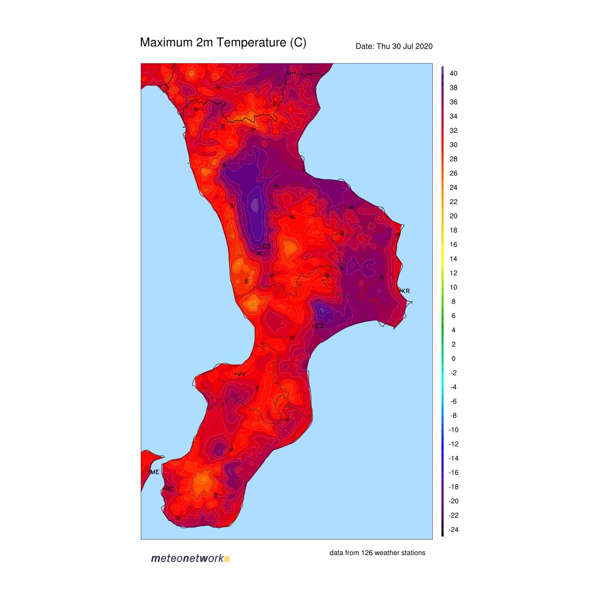 Meteo live: superati 40°