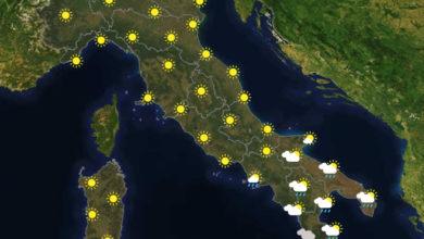 Previsioni del tempo in Italia per il giorno 05/07/2020
