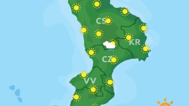 Previsioni Meteo Calabria 10-07-2020