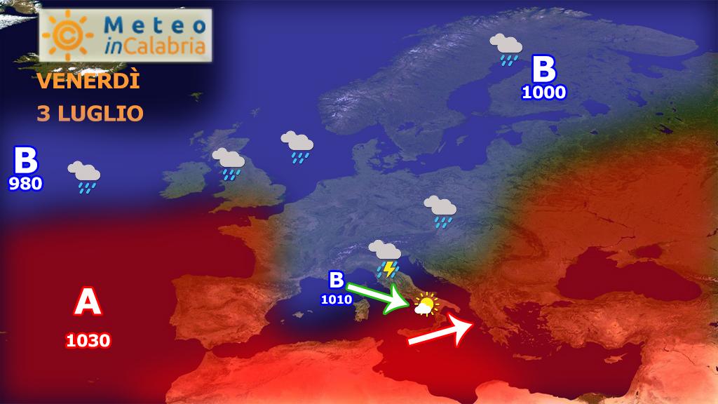 Ancora 24 ore di caldo seguirà un break instabile