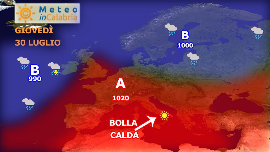 Caldo in aumento con punte di oltre 40 gradi