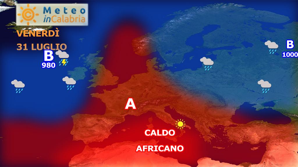 Prosegue l'ondata di caldo africano