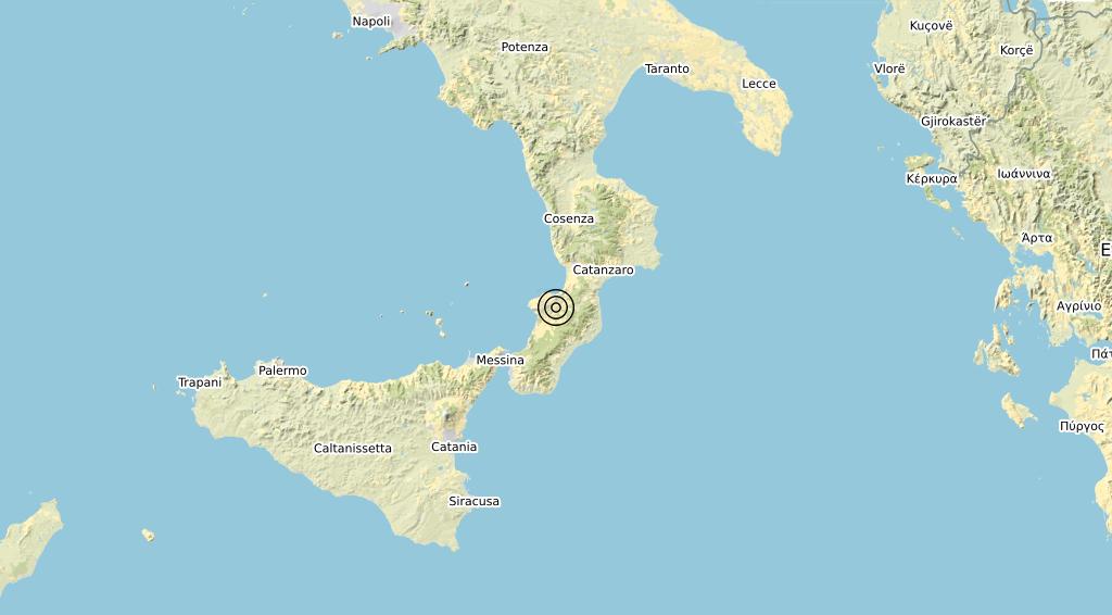 Terremoto Calabria 16-07-2020